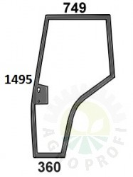 szyba drzwi lewe do Massey Ferguson 4215, 4220, 4225, 4235