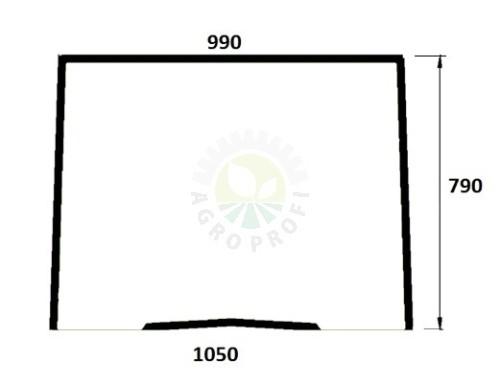 szyba przednia do Same Laser 100 110 130 140 150 160