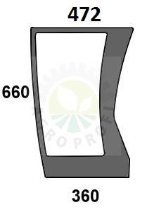 szyba przednia dolna lewa do Deutz Agrotron 80, 85, 90