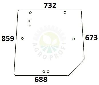 szyba tylna górna do Massey Ferguson serie 5400, 6100