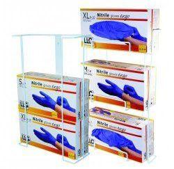 Dispensador de guantes, alambre revestido, para 3 cajas
