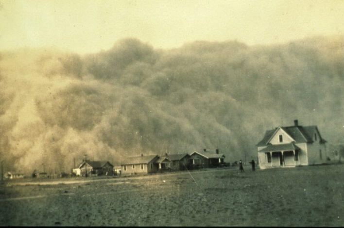 Tempestade de Areia em Stratford, Texas, 1935
