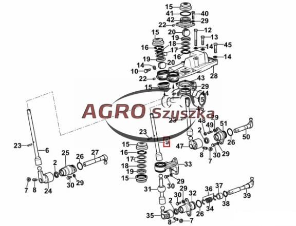 Dźwignia zmiany biegów Deutz 0.014.2500.0 AGROSZYSZKA
