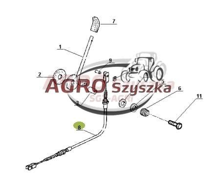 Linka gazu Renault Ares/Claas Atles 7700061851 AGROSZYSZKA