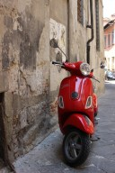 You know you are in Italy when you run into those in all different models, sizes, and colors specially my favorite which is Red ;) - Photo taken in the town of Lucca