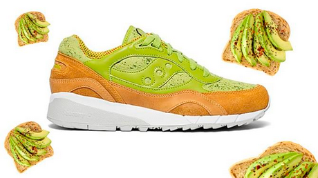 Zapatos casi comestibles inspirados en el aguacate