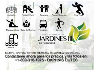 Parque JARDINES 3 aptos de 1 dormitorio Punta Cana