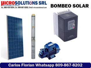 Bombeo solar de agua para riego y ganadería