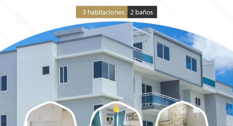 Apartamentos de 3 habitaciones en Santo Domingo Oriental
