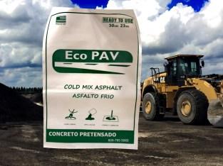 Asfalto en frio de 50 LB. Solución definitiva para los hoyos en las calles.
