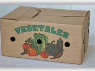 Cajas empaque vegetales y frutas