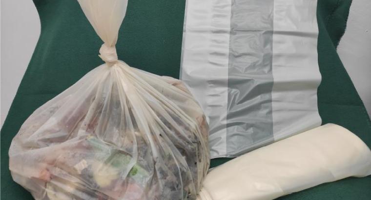 Bolsas de plástico fabricadas con residuos de hongos