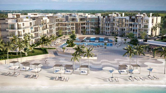 Propiedad de 1,2,3 Habitaciones frente a la playa en Punta Cana