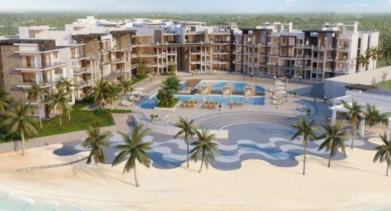 Beach front 2,3 ROOMS for sale in OCEAN BAY Punta Cana