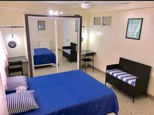 Miraflores, Gazcue, Alquiler Apartamento Amoblado, 1 Hab, 1 Baño, No parqueo