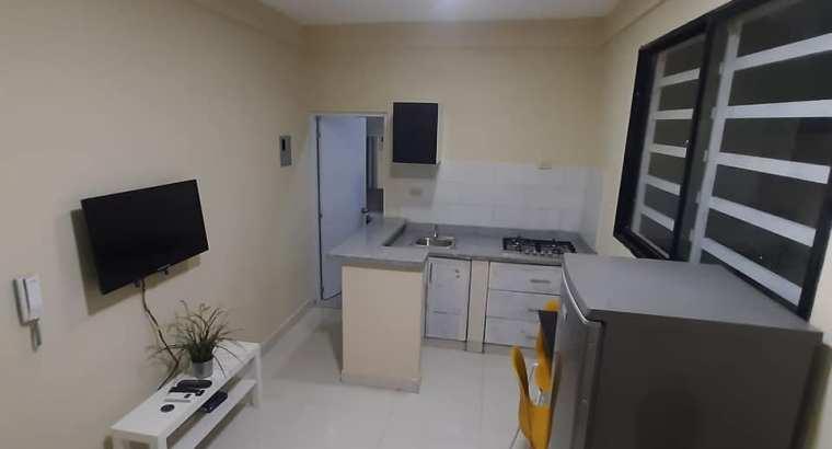 Alquiler Apartamento Amoblado De 2 Habitaciones, No Parqueo, Gazbue, Unibe