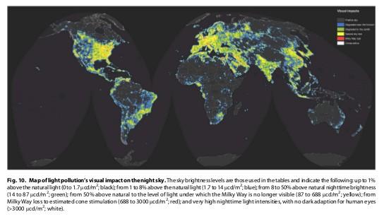 Fonte: World Atlas of Artificial Night Sky Brightness