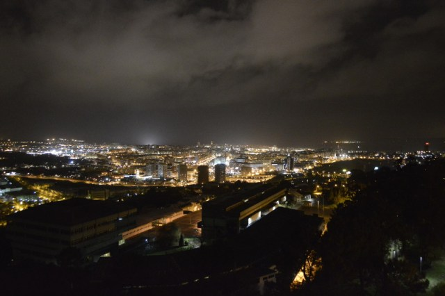 Contaminación luminosa na Coruña. Foto: Daniel Ríos Meizoso.