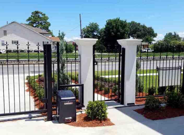 Single Walk-through Gate Entrance and Sliding Drive-thru Gate Entrance.