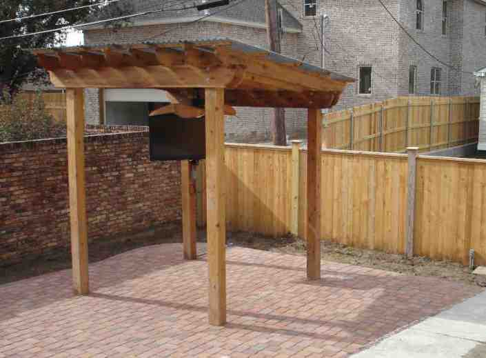 Patio Roof (Arbor) with Electricity Built by AGS Access in Lakeview.