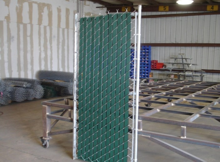 Walk-Through Chain-Link Gate with Durable Privacy Inserts.