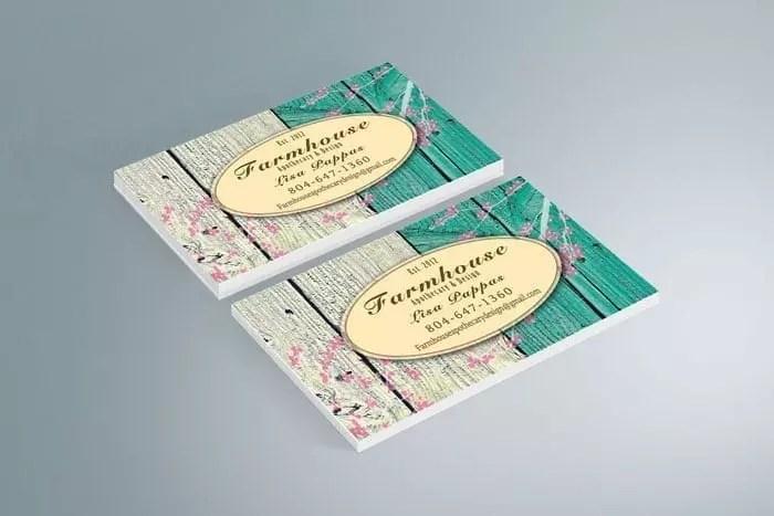 Farmhouse Business Card Design