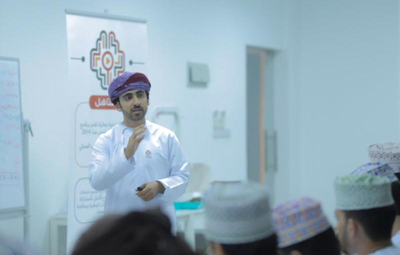 al-Moatasem presenting a workshop on online content creation (al-Moatasem al-Mamari)