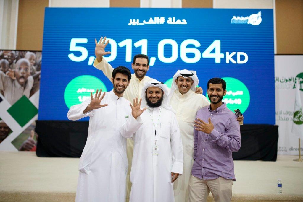 من اليسار إلى اليمين : عبدالرحمن البداح، عبدالله الشايجي، د. عبدالله السميط، محمد الحصينان، ماجد سلطان (الصورة من حساب عبدالرحمن)