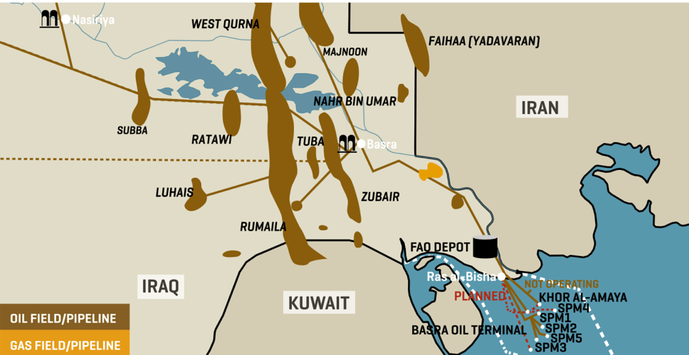Iraq_Gas and Oil Fields