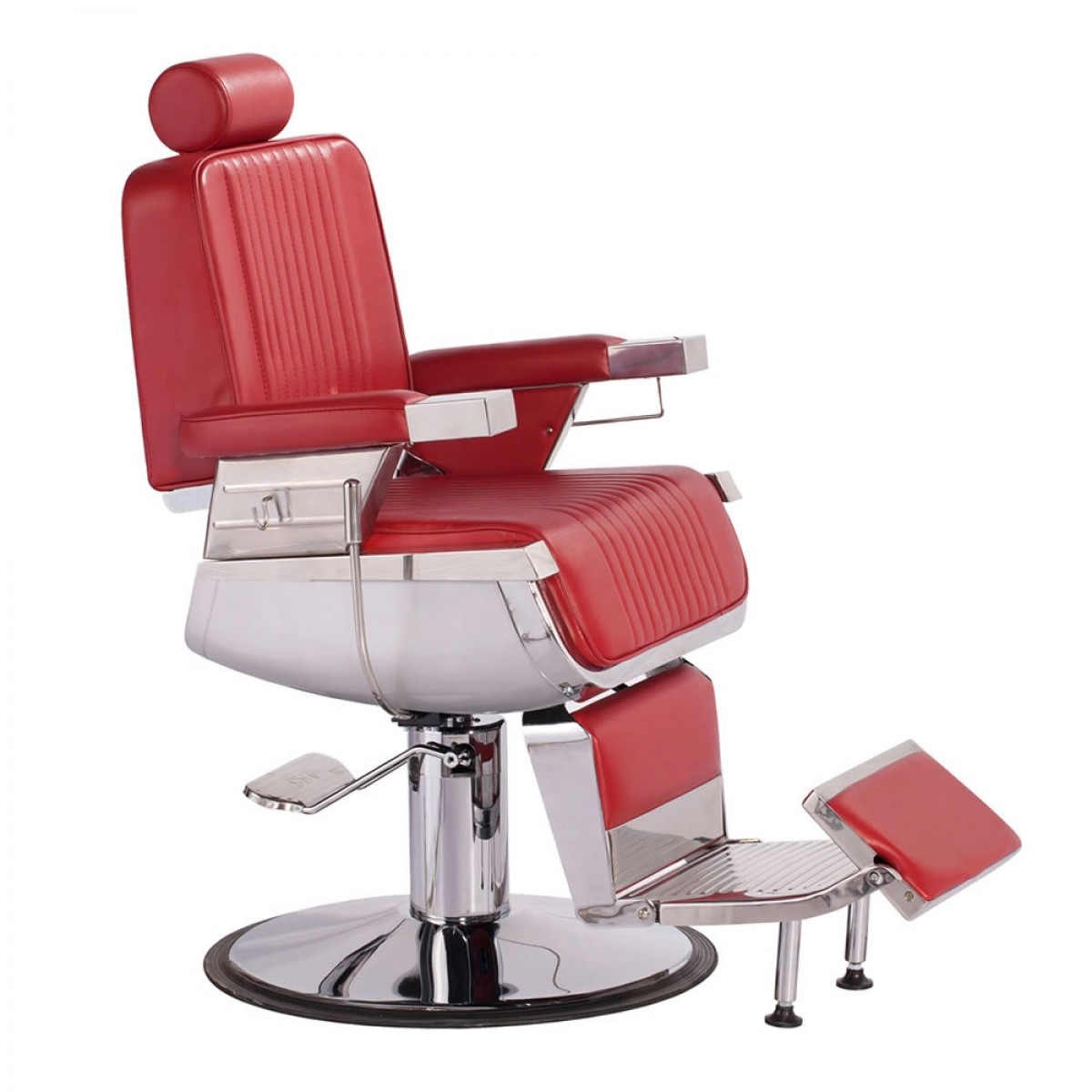 Red Salon Chairs Quotconstantine Quot Barber Chair In Cardinal Red Red Barber