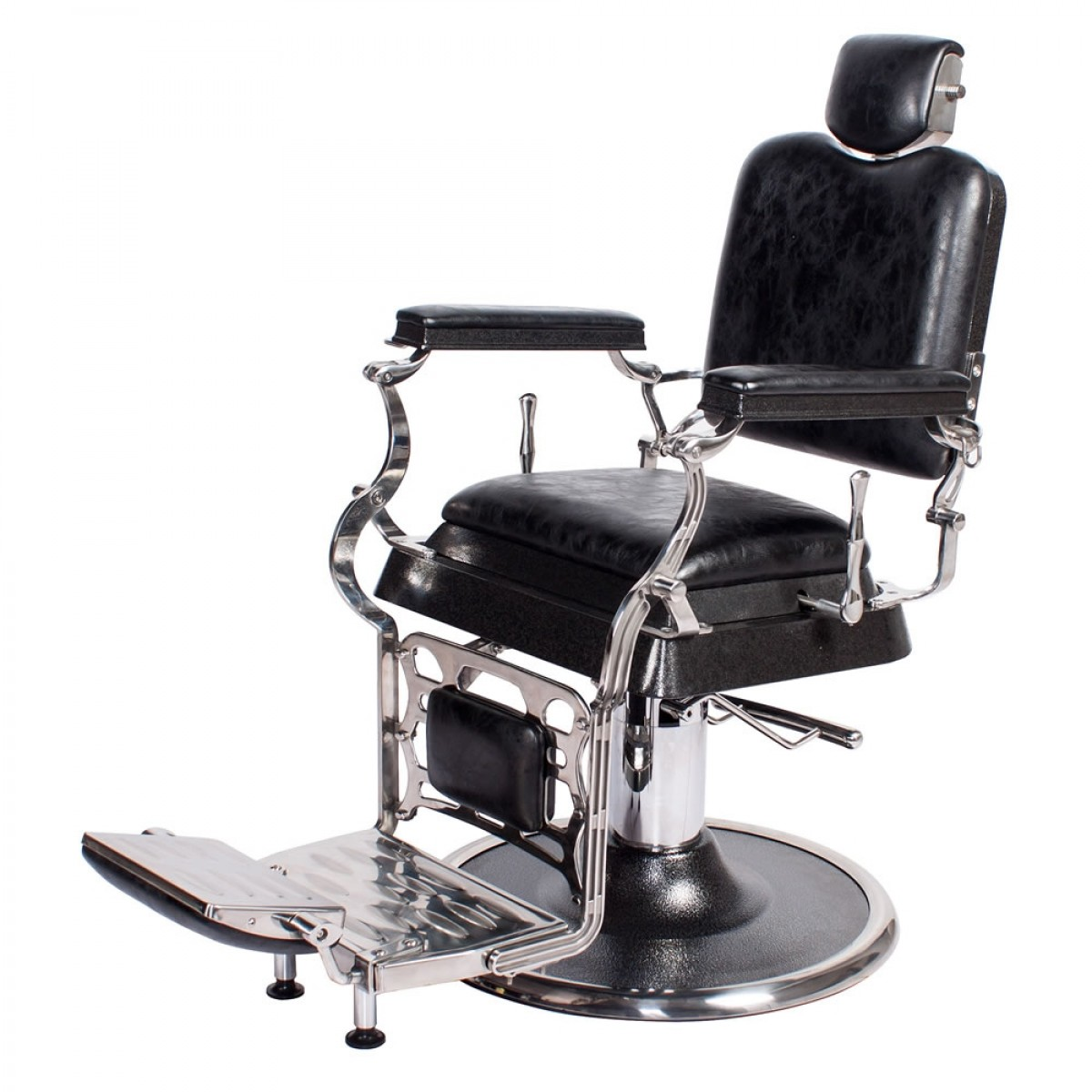 Barber Shop Chairs Quotemperor Quot Barber Chair In Antique Black Barber Shop