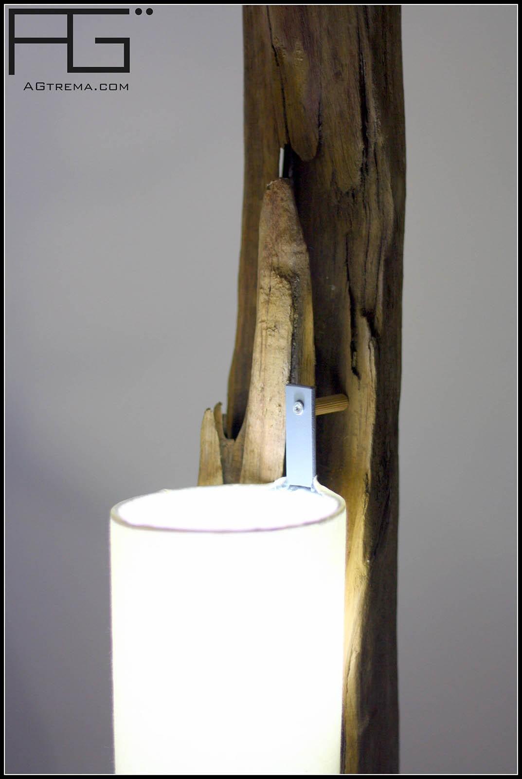 Lampe en bois flott poutre de bois artisanat dAlsace