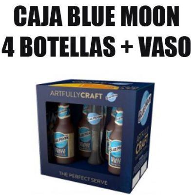 CAJA BLUEMOON + vaso
