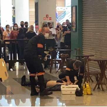 Homem é baleado durante tentativa de assalto no DFPlaza