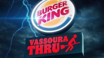 Vassoura Thru, promoção do BURGER KING vai dar Whopper grátis