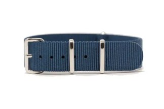 blue solid nylon watch strap
