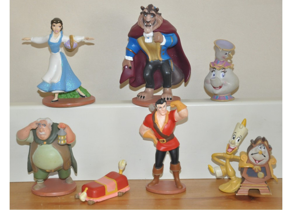 Image result for beauty and the beast movie figures