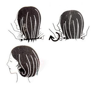 enrolar cabelo bob lob sem cortar gancho encurtar cabelo