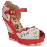 miss l'fire sandálias vintage sapatos spartoo pinup rockabilly pin up peep toe bordadas