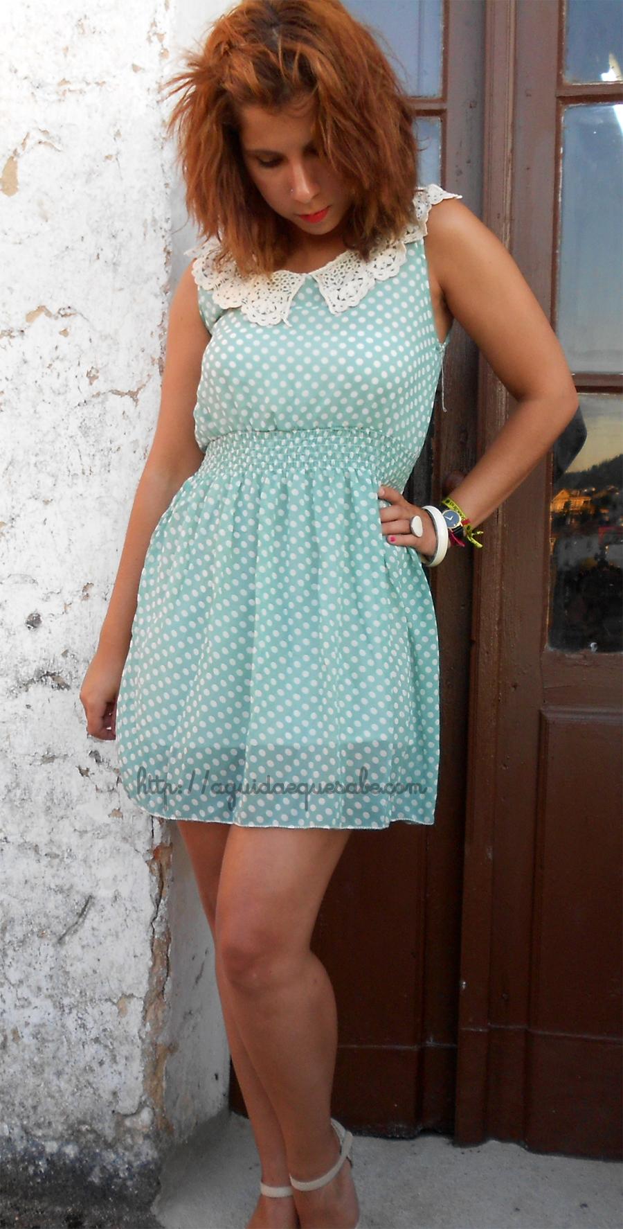 vestido low cost china sammydress bolinhas pintas menta polka dots vintage pinup