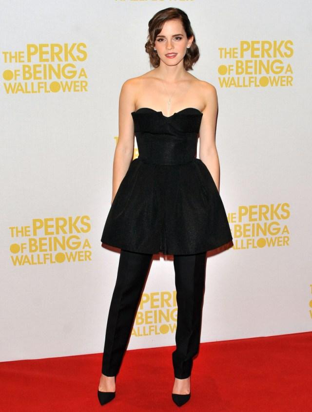 emma watson moda vestido hermione granger vestido calças cinema little black dress lbd