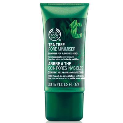tea tree pore minimiser primer the body shop vegan cruelty free não testa em animais