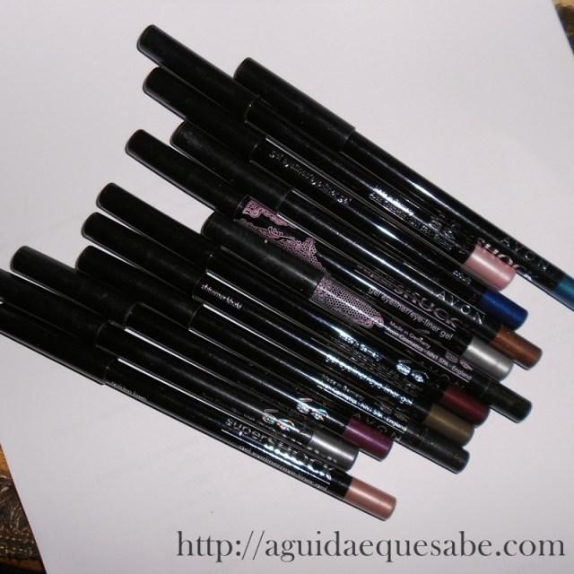 avon supershock mark waterproof eyeliner gel liner lápis resenha review swatch maquilhagem makeup