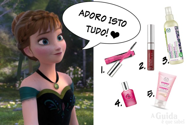princesa anna elsa frozen the body shop review beauty makeup maquilhagem blog swatch carnaval
