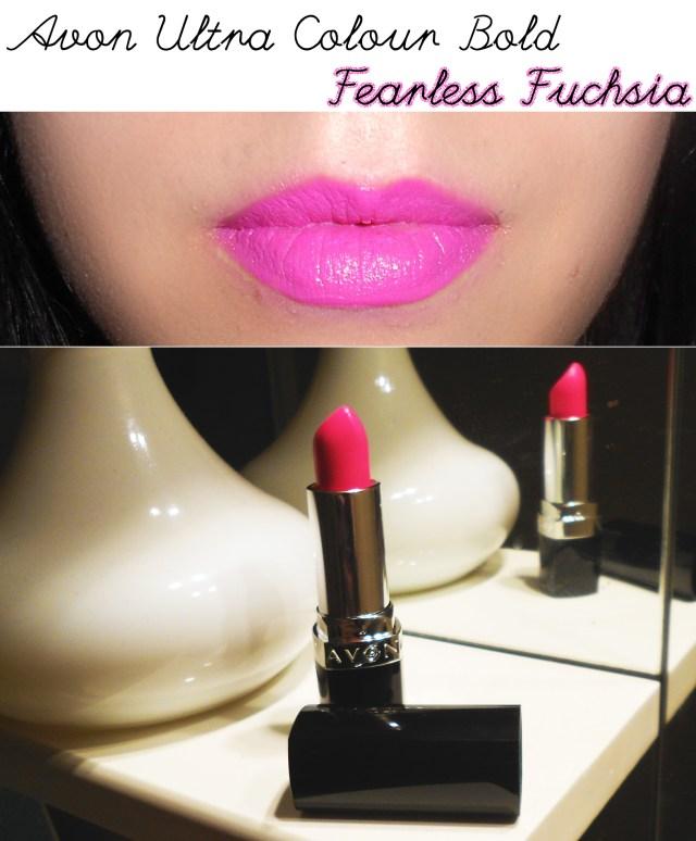 fearless fuchsia batom ultra colour avon review resenha maquilhagem maquiagem makeup swatch opinião beleza beauty blog