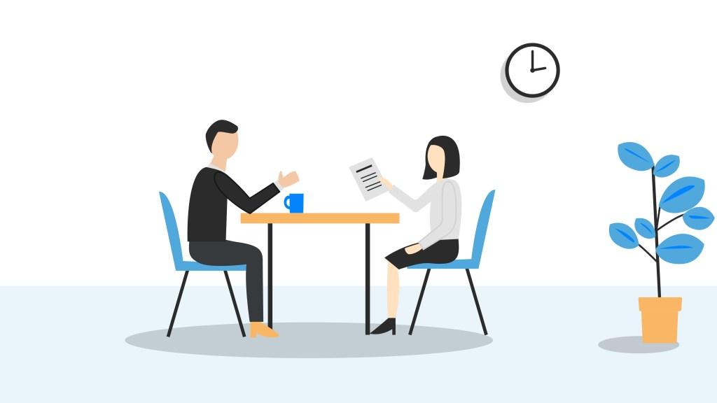 job interview post