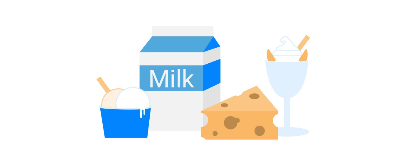 eating dairy