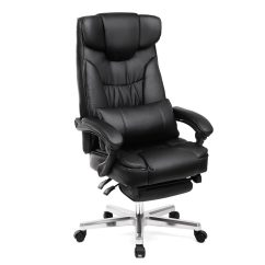 Reclining Office Chair With Footrest India Rattan Swing 9 Best Chairs In 2019 Songmics Uobg75b Foldable Headrest And Pull Out