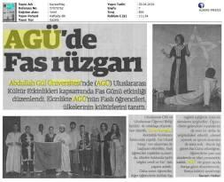 Abdullah Gül University, Üniversitesi, AGU, AGÜ, Morocco, Fas, International, Uluslararası, event, etkinlik