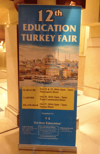 Tris-Star Education, Turkey, fair, 12th, Karachi, Lahore, Islamabad